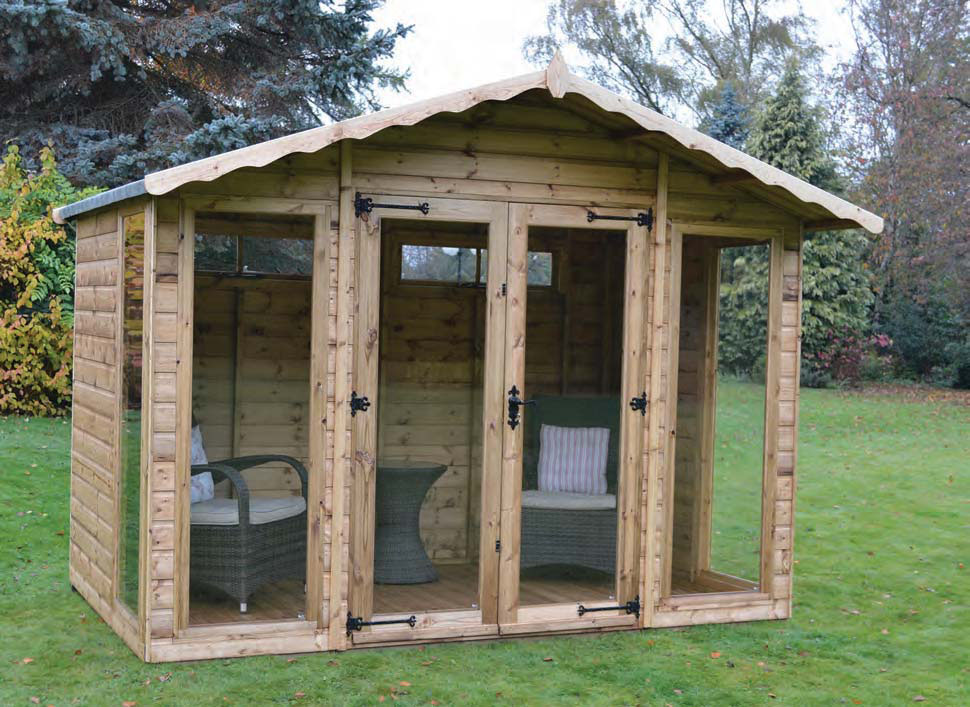 Helmsley apex summerhouse sheds summerhouses hampshire for Garden shed 12x10